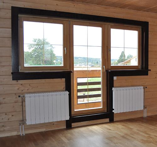 Установка деревянной балконной двери - как крепить добор к к.