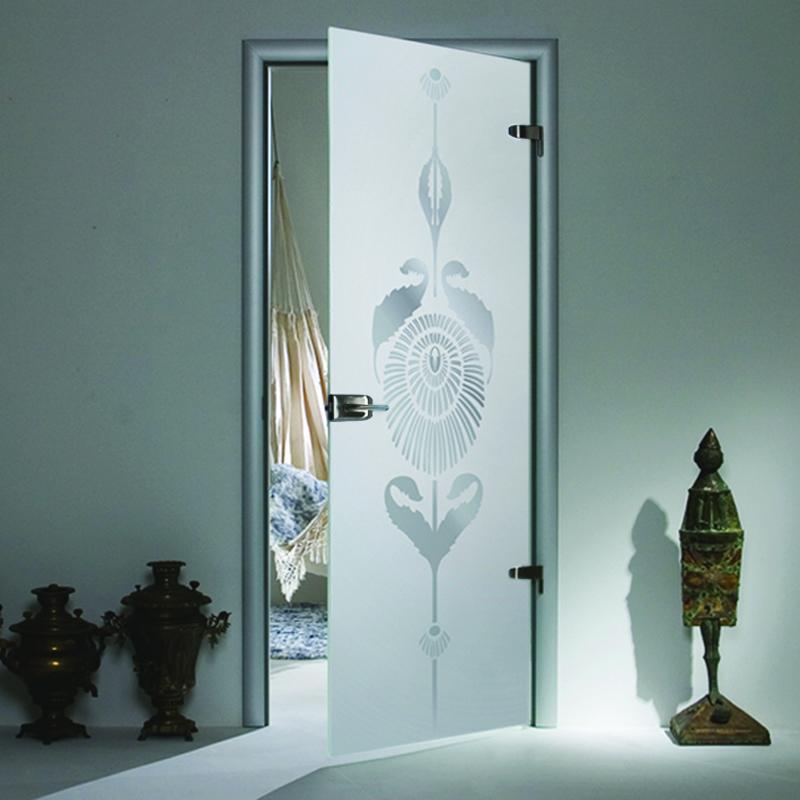 Стеклянные двери Flowers: лучшие цены в Москве завод АКМА